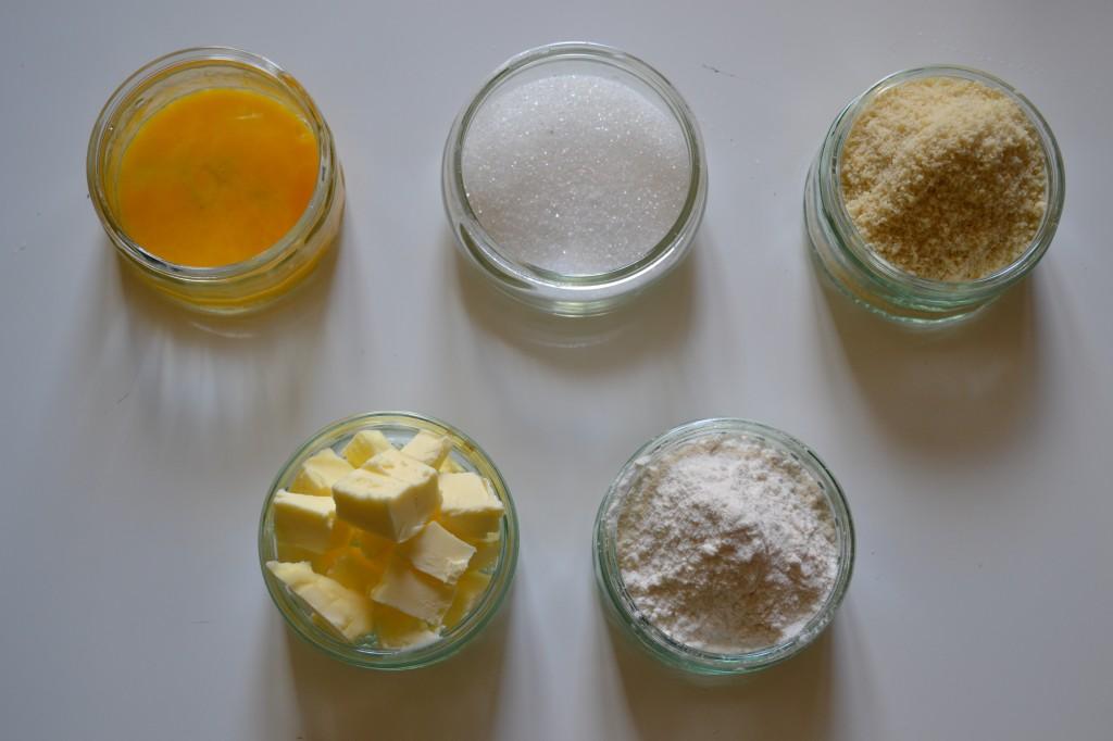 ingredients pâte sablée