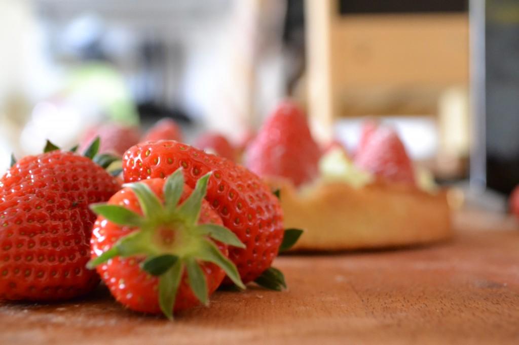 fraises gros plan