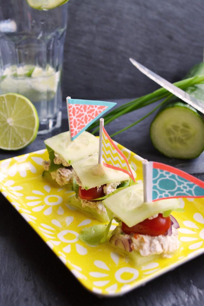 Le CLT (Cucumber-Lettuce-Tuna) Le club sandwich light au concombre