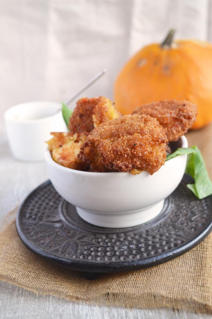 Croquettes potiron mozzarella curry