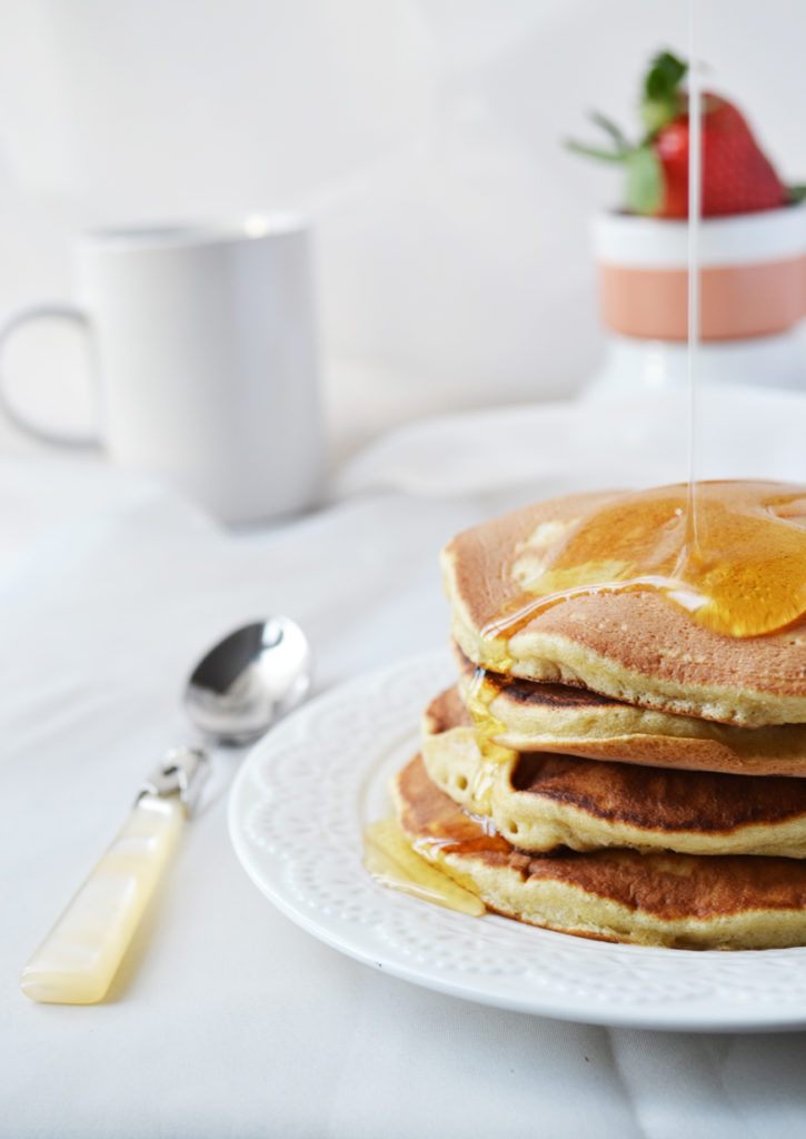 Pancakes à la farine de blé complète