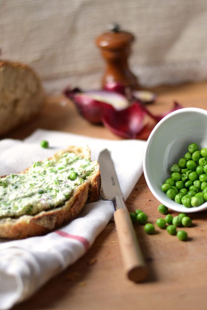 Pâte à tartiner petits pois menthe & cream cheese