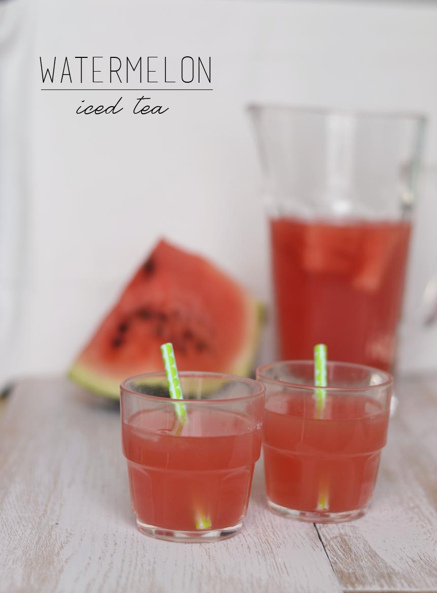 Watermelon iced tea - thé glacé à la pastèque