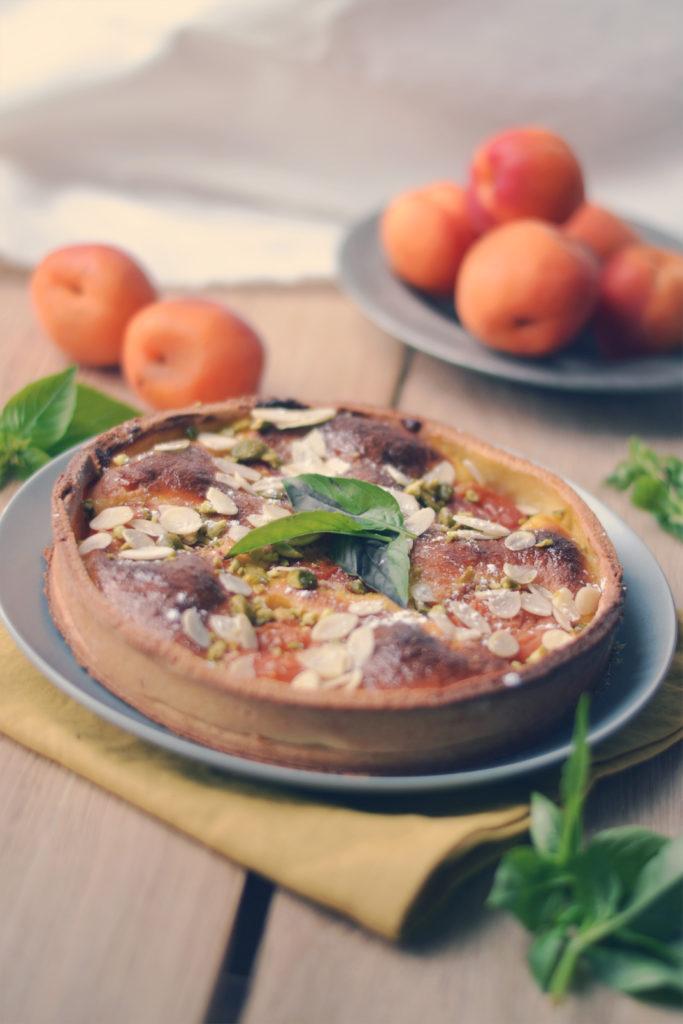 Tarte amandine abricots basilic
