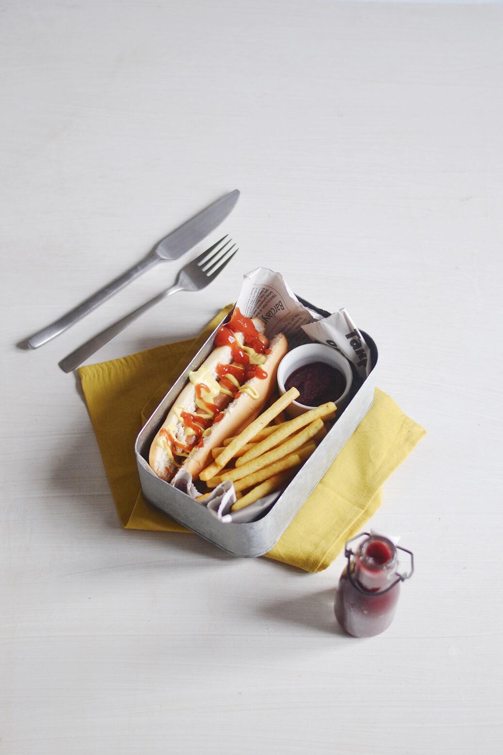 Hot dog au Ketchup de betteraves et épices cajun