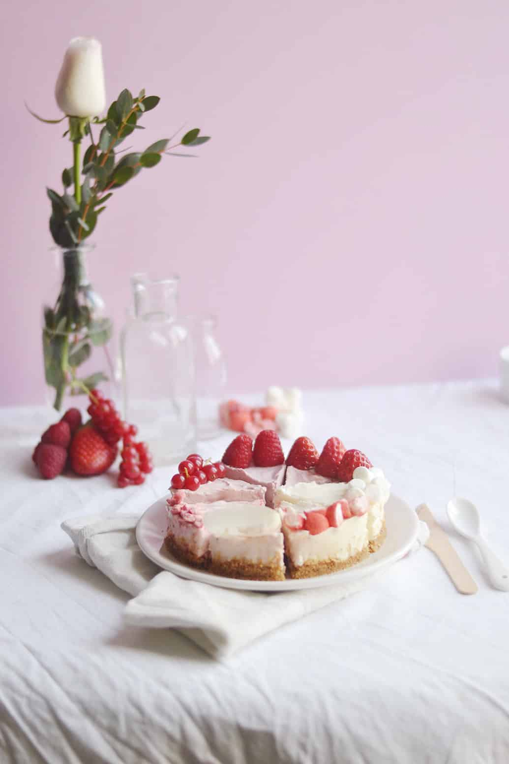 Pink ombre cheesecake