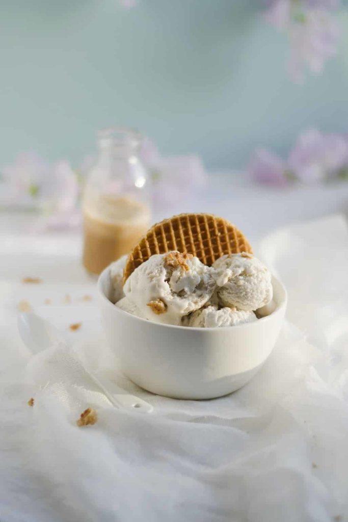 Glace au lait de coco et caramel salé | vegan