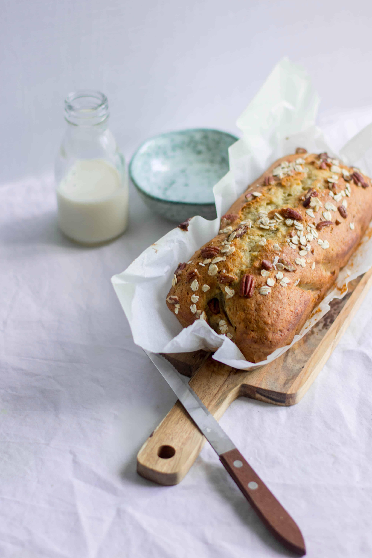 Banana bread aux flocons d'avoine et noix de pécan