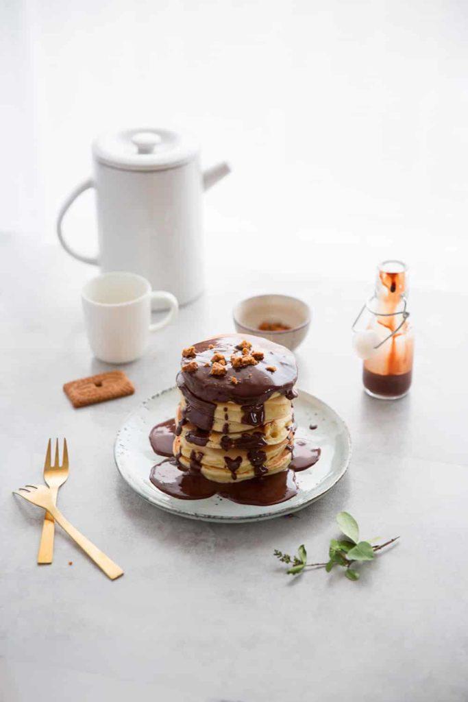 Pancakes chocolat speculoos