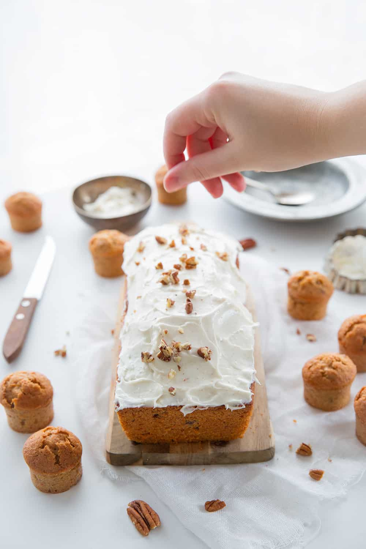 Carrot cake et glaçage cream cheese