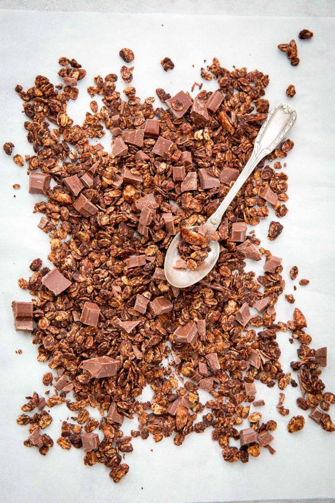 Granola au chocolat au lait