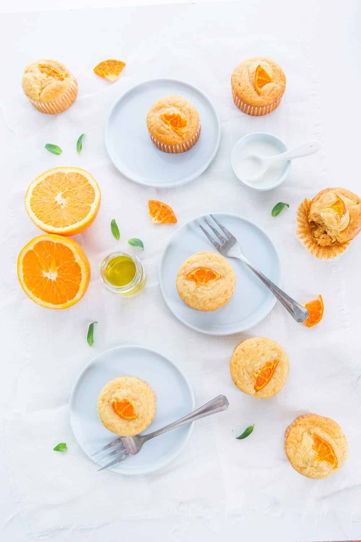 Muffins fleur d'oranger miel huile d'olive