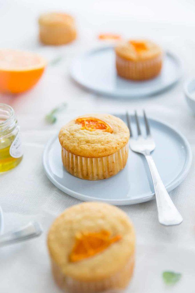 Muffins miel, fleur d'oranger & touche d'huile d'olive
