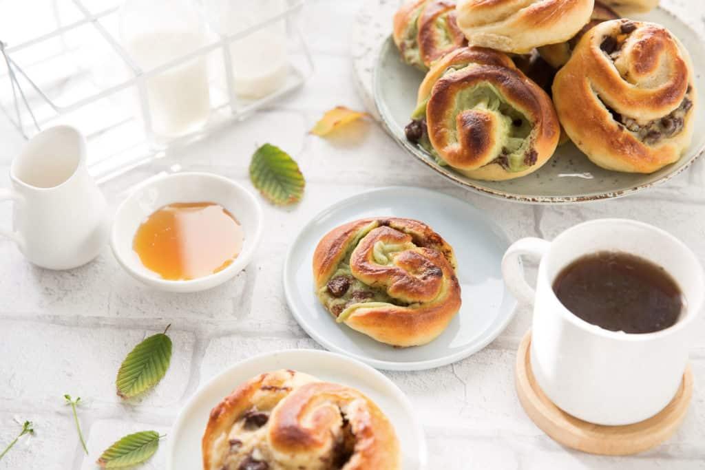 Brioches escargot vanille /pistache & chocolat