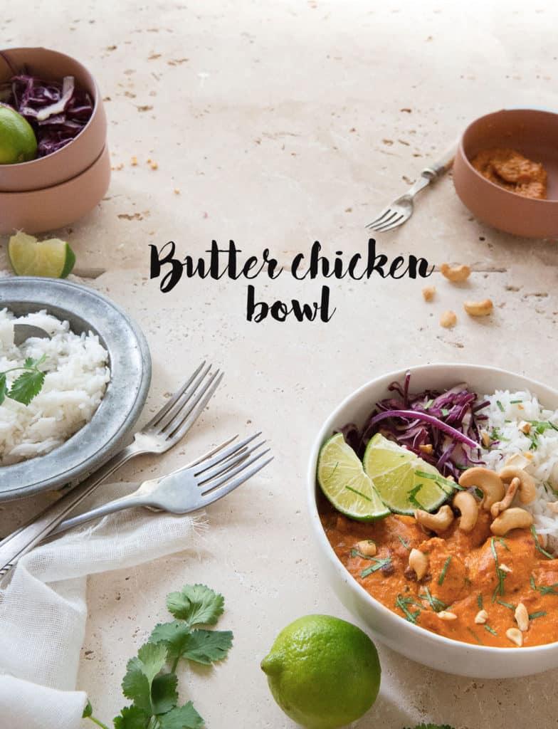 Butter chicken bowl