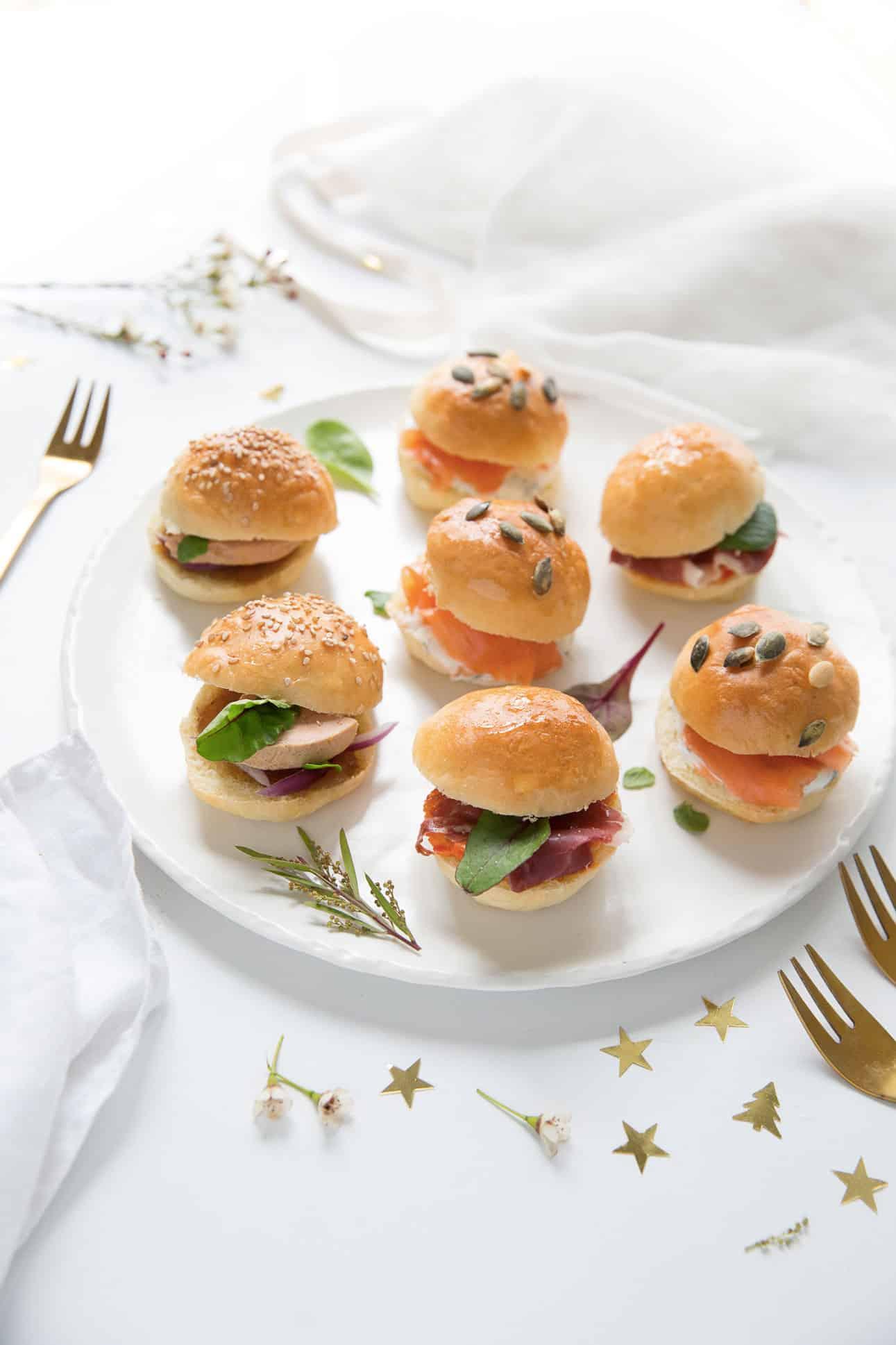 Mini burgers apéritif de fêtes