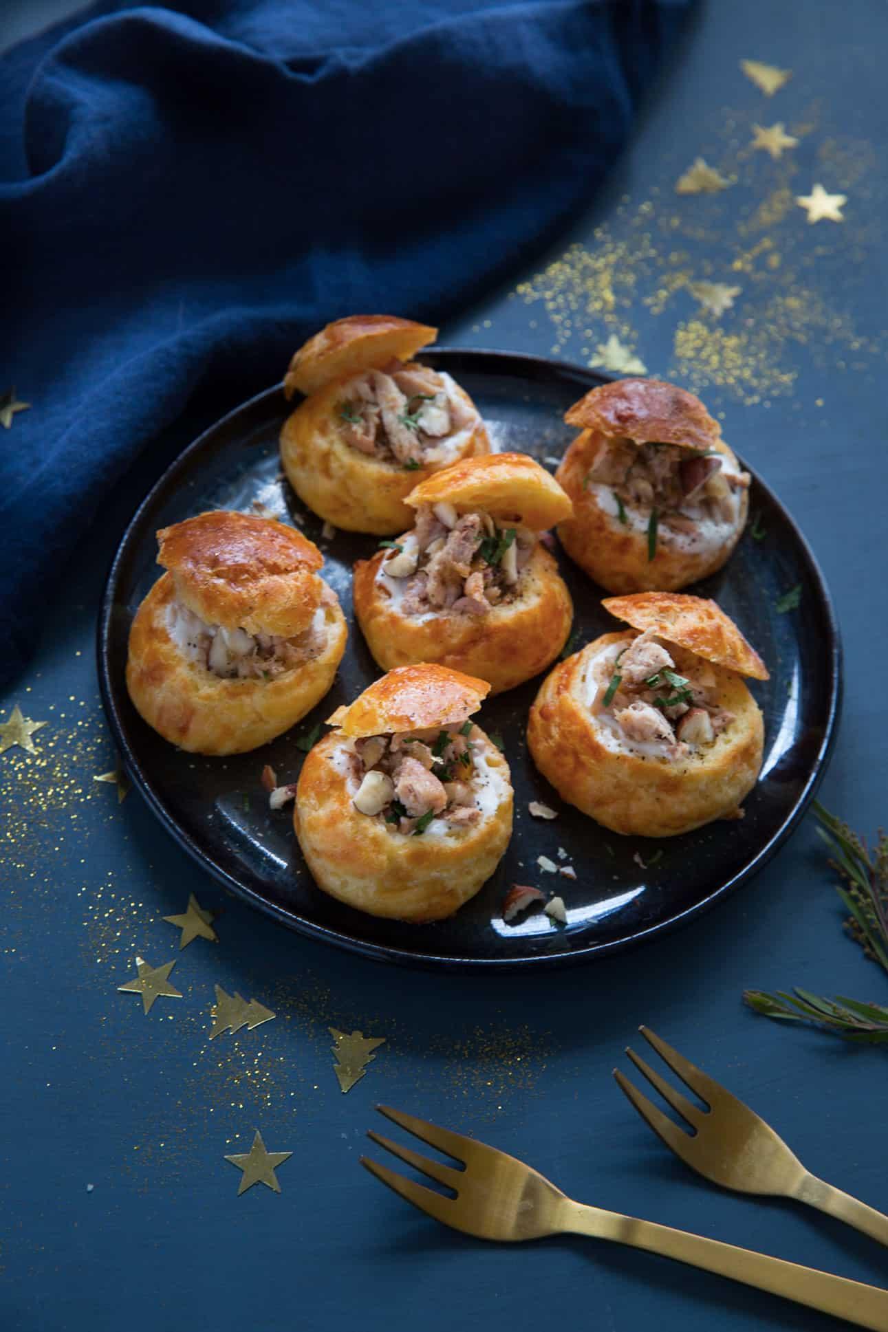 Choux farcis au foie gras et à la perdrix