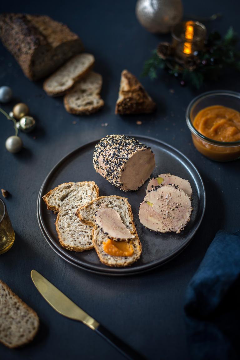 Foie gras pané au sésame